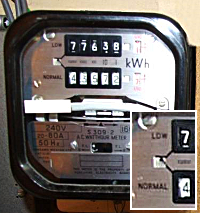 Economy 7 tariff meter
