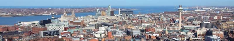 City in Merseyside Liverpool