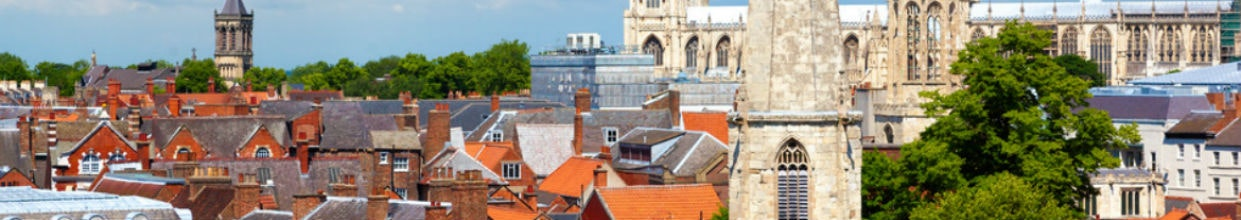 cityscape of york a town in north yorkshire england